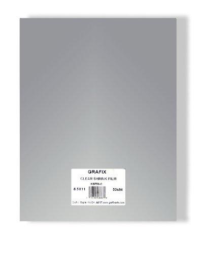 Grafix Clear 8-1/2-Inch by 11-Inch Shrink Film