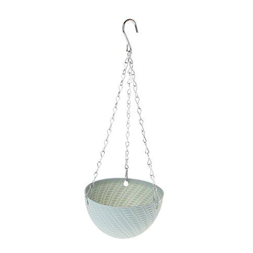 Fogun runder Kunststoff-Hängekorb, Blumentopf, Garten Pflanzkette, Pflanzgefäße Dekoration