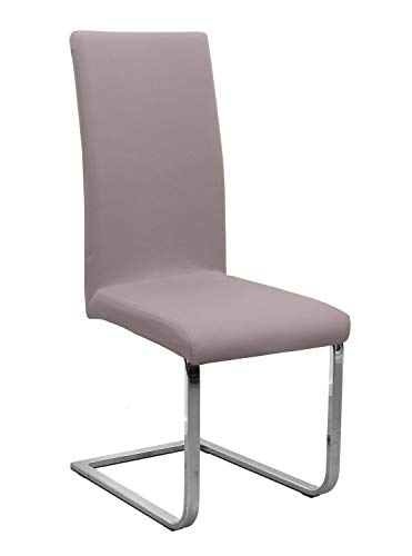 Stuhlhusse Jersey, elastische Stretch Husse Baumwolle Bi-Elastic, Farbe wählbar, Taupe-Braun