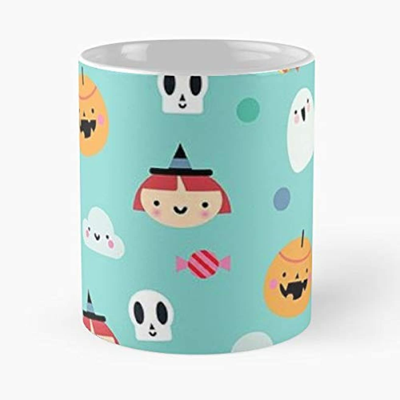 Ghosts Skulls Witches Spiders - 11 Oz Coffee Mugs Unique Ceramic Novelty Cup, The Best Gift For Halloween.