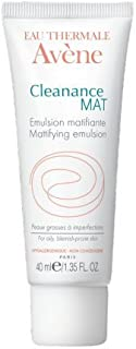AVENE CLEANANCE MAT MATTIFYING EMULSION Controls shine, hydrates oily skin and make-up/Brillo de controles CLEANANCE MAT MATIFICANTE EMULSIÓN, hidrata la piel grasa y maquillaje 40 ml Francia