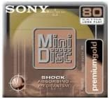 Sony MDW80PL 80 Minute MiniDisc MD Premium Gold (Single)