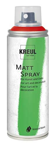 Kreul 76315 - Farbspray dunkelrot, 200 ml, klassisch matte Sprühfarbe auf Wasserbasis hochpigmentiert und wasserfest styropofest für Innen und Außen