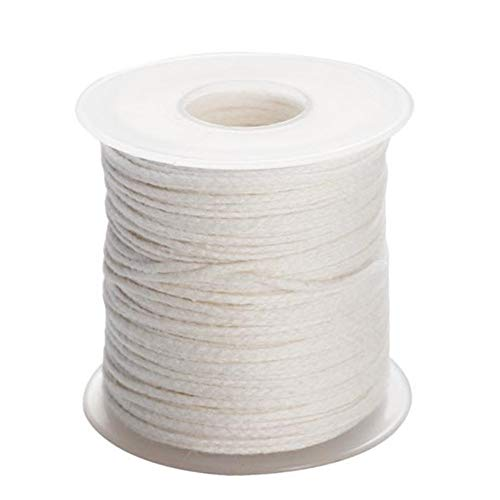 LQKYWNA 200 Feet Cotton Candle Wick Core Spool No-Mist Braid Handmade Rope Scented Candle Part DIY Material 24 Strands