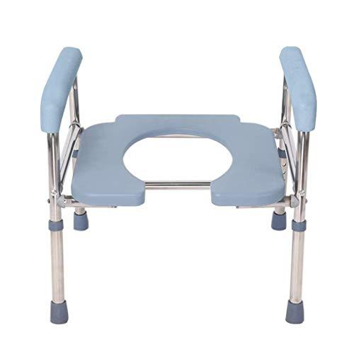 XH-Chair Toilettenstuhl Schwerer Nachttisch-U-Typ-Toilettenstuhl, extra breit, höhenverstellbar, medizinisch fettleibiger Erwachsenensitz, schweres Gewicht 200 lbs, sicherer Rutschfester Sitz