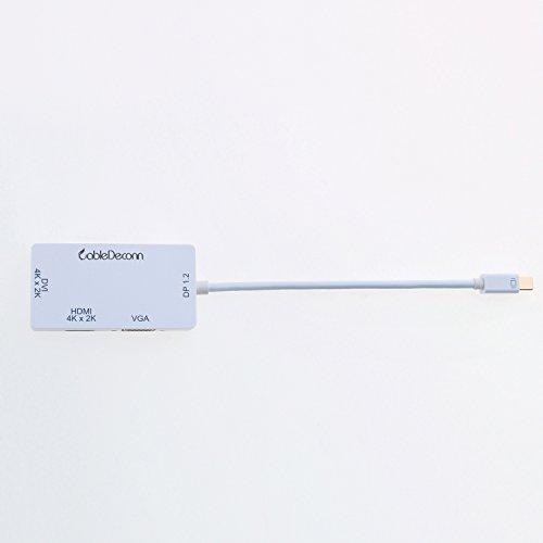 CableDeconn 3-in-1 Mini DisplayPort 1,2 V auf DVI VGA HDMI TV HDTV Adapter Konverter HDMI Full 4K X 2K Auflösung
