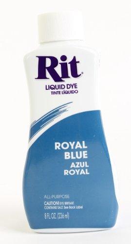Rit Dye Liquid Dye, 8 fl oz, Royal Blue, 3-Pack