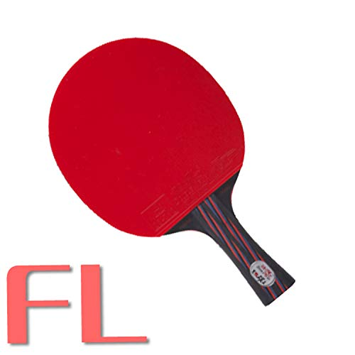 Best Prices! Double Fish Hot Red&Black Carbon Fiber Table Tennis Racket Ping Pong Paddle ITTF Approv...