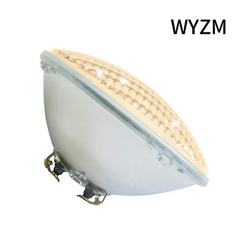 PAR56 LED Piscine,Blanc chaud 12V AC 54W Lampe LED Piscine PAR56,Replace 300-500W Halogen Spotlight,Etanche IP68 Etanche IP68 Éclairage sous-marin(Par56 54W-Blanc chaud)