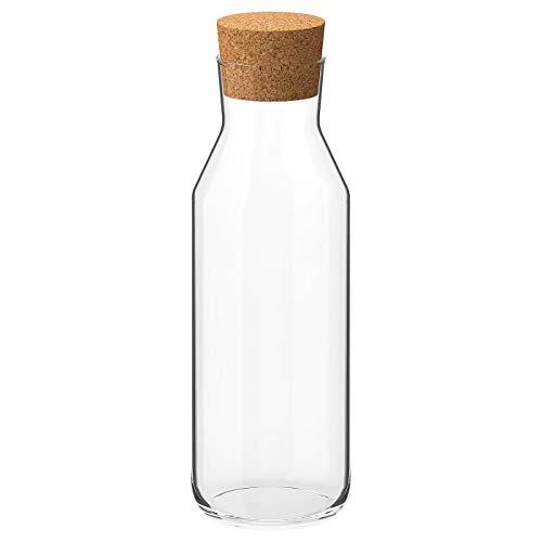 Ikea 365+ Tropffreie Karaffe mit Korkstopfen Deckel, Glas Wasserkrug, Glas Kühlschrankkaraffe, Eisteebereiter (2)
