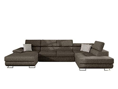 Mirjan24 Ecksofa Cotere Bis, Eckcouch, Sofa mit Schlaffunktion und Bettkasten, U-Form Couch Farbauswahl Wohnlandschaft vom Hersteller (Argo 214 + Argo 214 + Argo 211, Seite: Rechts)