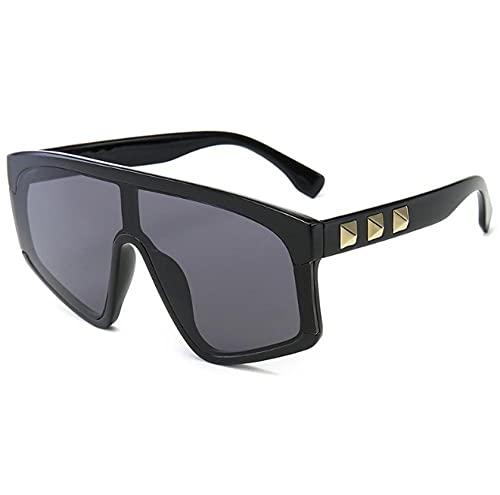 ZZZXX Gafas De Sol Redondas Hombre Remache Europeo Y Americano Para Hombres Y Mujeres. Gafas De Sol Hd Antireflectantes Para Hombre Y Mujer,Con Caja De Regalo Y Paño Para Vasos