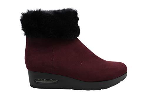 DKNY Frauen Abri Runder Zeh Fashion Stiefel Lila Groesse 7 US /38 EU