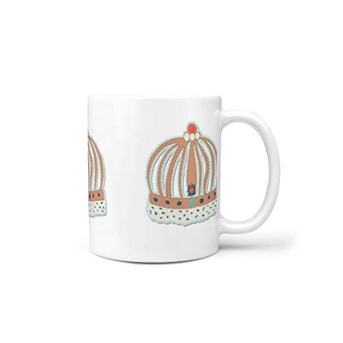 O2ECH-8 11 oz artistiek effect korte drankjes koffie kopjes met handvat porselein persoonlijke beker - artistieke werking vrienden cadeau, geschikt voor restaurant