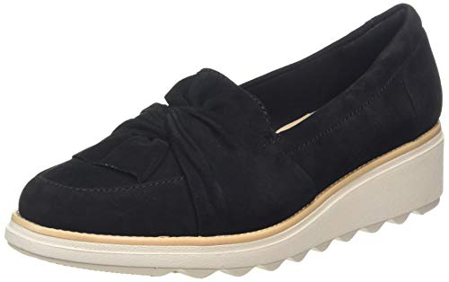 Clarks Damen Sharon Dasher Slipper, Beige (Black Black), 38 EU