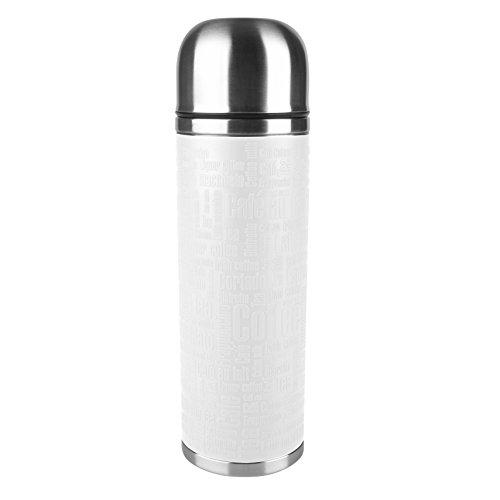 Emsa 515716 Isolierflasche, Mobil genießen, 1 l, Safe Loc Verschluss, Weiß, Senator Manschette