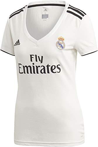 adidas Real H JSY W Camiseta, Mujer, Multicolor (Blabas/Negro), M