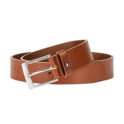 Tommy Hilfiger Adan Leather 3.5 Cinturón, Dark Tan, 85 para Hombre