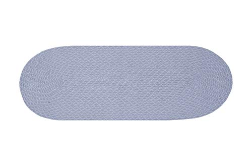 Better Trends Sunsplash Braid Collection is Durable and Stain Resistant Reversible Indoor Outdoor Area Utility Rug 100% Polypropylene in Vibrant Colors, 24' x 60' Runner, Periwinkle