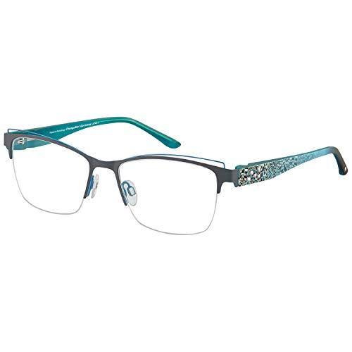 Change Me randlose Brille 2524-2 mit Wechselbügel 8746-2 türkis
