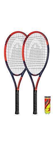HEAD Ti.Reward - Raqueta de tenis de titanio (incluye fundas protectoras y 3 pelotas de tenis)
