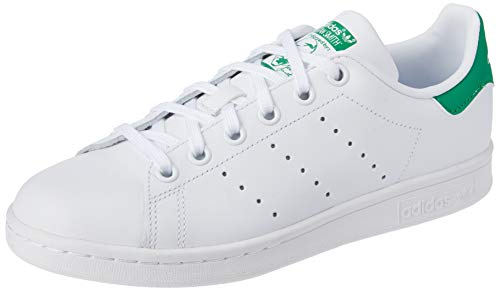 adidas Stan Smith J Zapatillas Unisex Niños, Blanco (Footwear White/Footwear White/Green 0), 38 EU