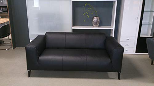 Möbel Akut Sofa Rolf Benz Freistil 186 Sofabank 3 Sitzer Couch Echtleder schwarz 183 cm