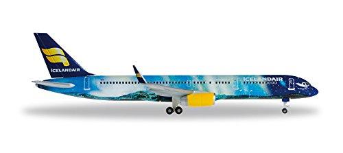 Herpa 529129 Fahrzeug Icelandair Boeing 757-200 Hekla Aurora