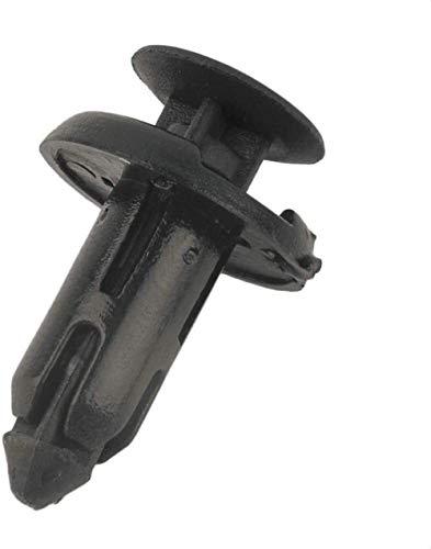 50pcs 8MM Negro Vehículo de plástico auto de choque varillas de sujeción de la hebilla Ajuste Del Interior Tarjeta de revestimiento de la puerta fija la abrazadera Accesorios de coche al aire libre