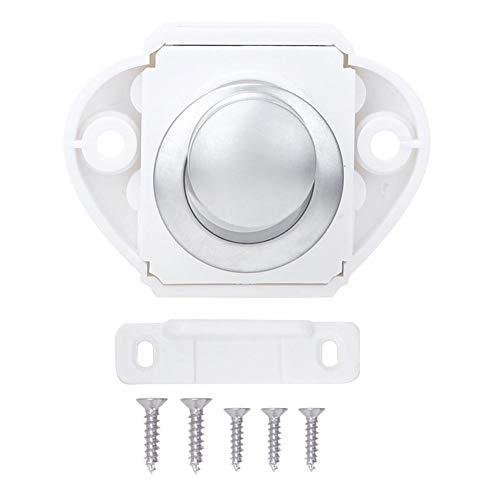 Push Lock, Keyless Push-Pull Push Lock Kunststof en zinklegering Drukknop Klink Klink voor Scheepsjacht Ladekast(P01W-PC)