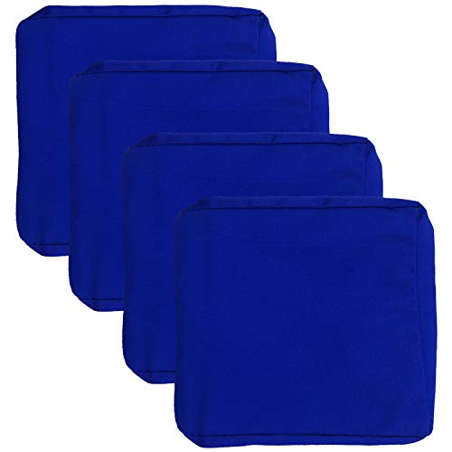 FLYMEI 4 Pack Outdoor Seat Cushion Cover 24 X 24, Patio Cushion Slipcovers Washable Cushion Pillow Seat Covers Large Patio Chair Seat Covers -...