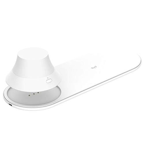 YEELIGHT draadloze oplader met nachtlampje | Wireless Charger | oplaadfunctie op nachtkastje | EU-versie, 15 W, wit