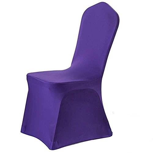 CHOSERL Stuhlhusse aus Elastan, Lycra, Stretch, für Hochzeit, Jahrestag, Party, Bankett, elastischer Stuhlschutz (lila, Einheitsgröße)