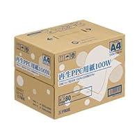【まとめ買い】王子製紙 再生PPC用紙100W A4 1セット(500枚×10冊/5000枚)