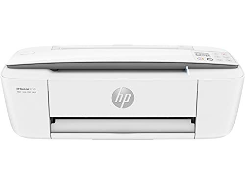 HP DeskJet 3750 T8X12B Stampante Fotografica Multifunzione A4, Stampa, Scansiona, Fotocopia, Wi-Fi, HP Smart, USB 2.0, No Stampa Fronte/Retro Automatica, 2 Mesi di Instant Ink Inclusi, Grigio Perla