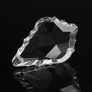 5PCS 38MM Chandelier Clear Crystal Glass Maple Leaf Pendant Lamp Prisms Part Decor - Lighting Accessories Pendant Light Accessories - 5 x Hanging Drops Pendant