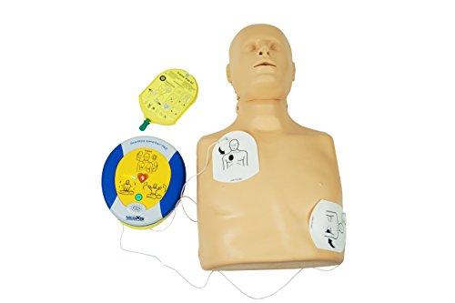 MedX5 HLW-D Trainingsset mit Übungspuppe- und Trainingsdefibrillator PAD 500P Trainer im Komplettset
