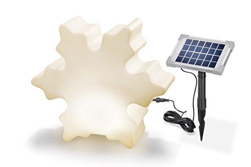 Solaire Objet lumineux Flocon de neige 8 couleurs lumière lumière continue ou Changement lumière Dimensions : (L x H x P) : 44 x 38 x 15 cm Esotec Lampe design 106018