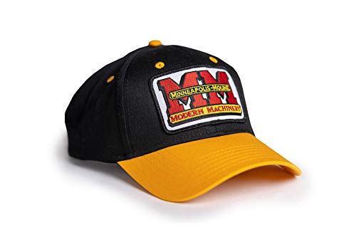 J&D Productions Minneapolis Moline Tractor Logo Hat, Gold and Black