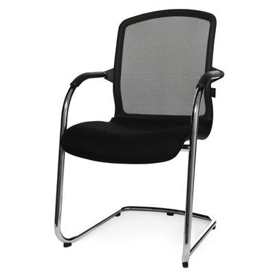 Wagner Stühle Besucherstuhl Wagner AluMedic 50 - mit Armlehnen, Netzrücken schwarz