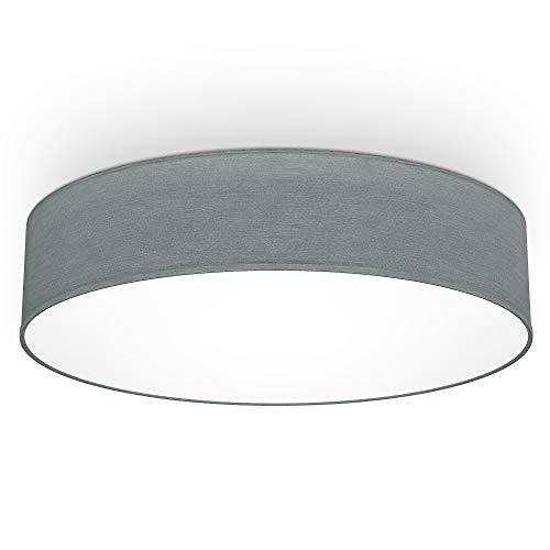 B.K.Licht I 20 W LED lámpara de techo de tela I 48 cm I blanco neutro 4.000 K I 1800 lumen I 20 W LED board I gris