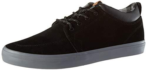 Globe GS Chukka, Zapatilla de Skate Unisex Adulto, Negro/Charcoal/Tela Escocesa, 45 EU