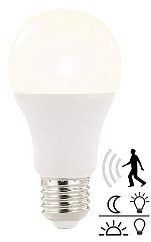 Luminea Sensorlampen: LED-Lampe mit Radar-Bewegungs- und Lichtsensor, 12 W, E27, warmweiß (LED Lampen mit Bewegungsmelder)