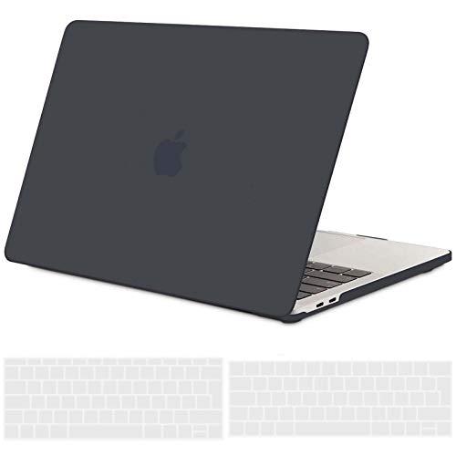 TECOOL Custodia MacBook PRO 13 Pollici 2019 2018 2017 2016 Case, Plastica Rigida Cover & Copertura della Tastiera per MacBook PRO 13.3 con/Senza Touch Bar: A1706/ A1708/ A1989/ A2159 -Nero Chiaro