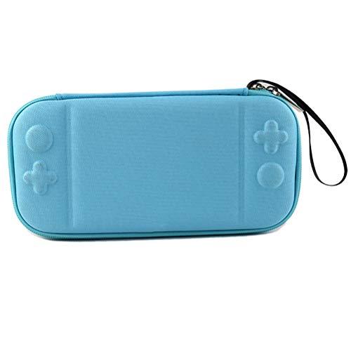Waterdichte opbergtas, draagtas voor Nintendo Switch Lite met 8 game-cartridges hard shell pouch blauw