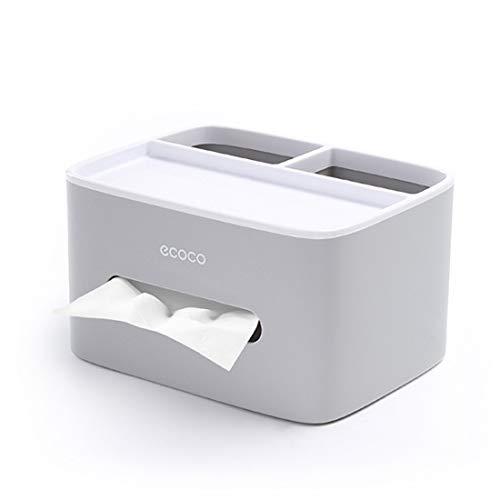MHTECH Caja De Pañuelos Multifunción, Mando a Distancia y Soporte de pañuelos, Organizador con Caja de pañuelos - Gris