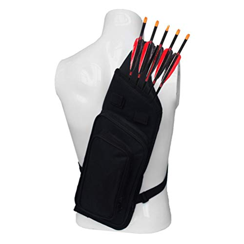 Macabolo Bogenschießen zurück Pfeil Köcher, leichte Bogenschießen Training Pfeil Köcher Halter Schleife Gürtel Schultertasche Tasche