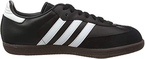 adidas Herren Samba Leather Niedrig, Schwarz Black Running White Footwear, 40 2/3 EU