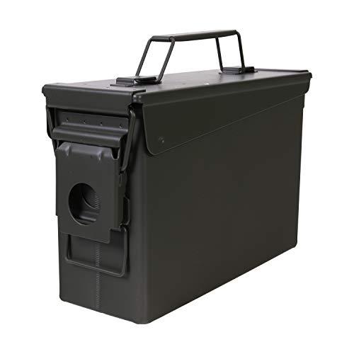 Allen Company Classic Steel Ammo Box, Lockable & Waterproof Lid.30 / .50 Caliber & Combo, Army Green (5930)