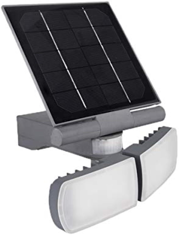 Lampe LED Projektor Wandtattoo ASLO 2x 5W schwenkbar Solarpanel schwenkbar–3-Stufenschalter–6000K–600Lumen